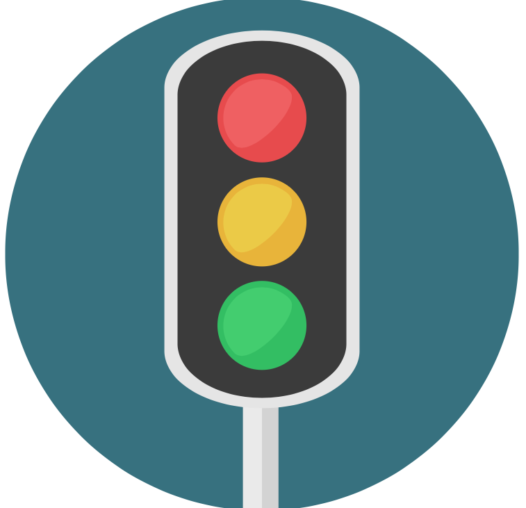 Red Stop! Green Go!
